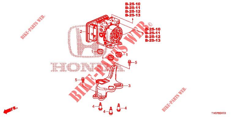 Vsa Modulator  Rh   U0026 39 00   For Honda Cars Civic 1 8 Ex 5