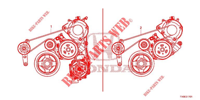 Alternator Belt  1 8l  For Honda Cars Civic 1 8 Ex 5 Doors